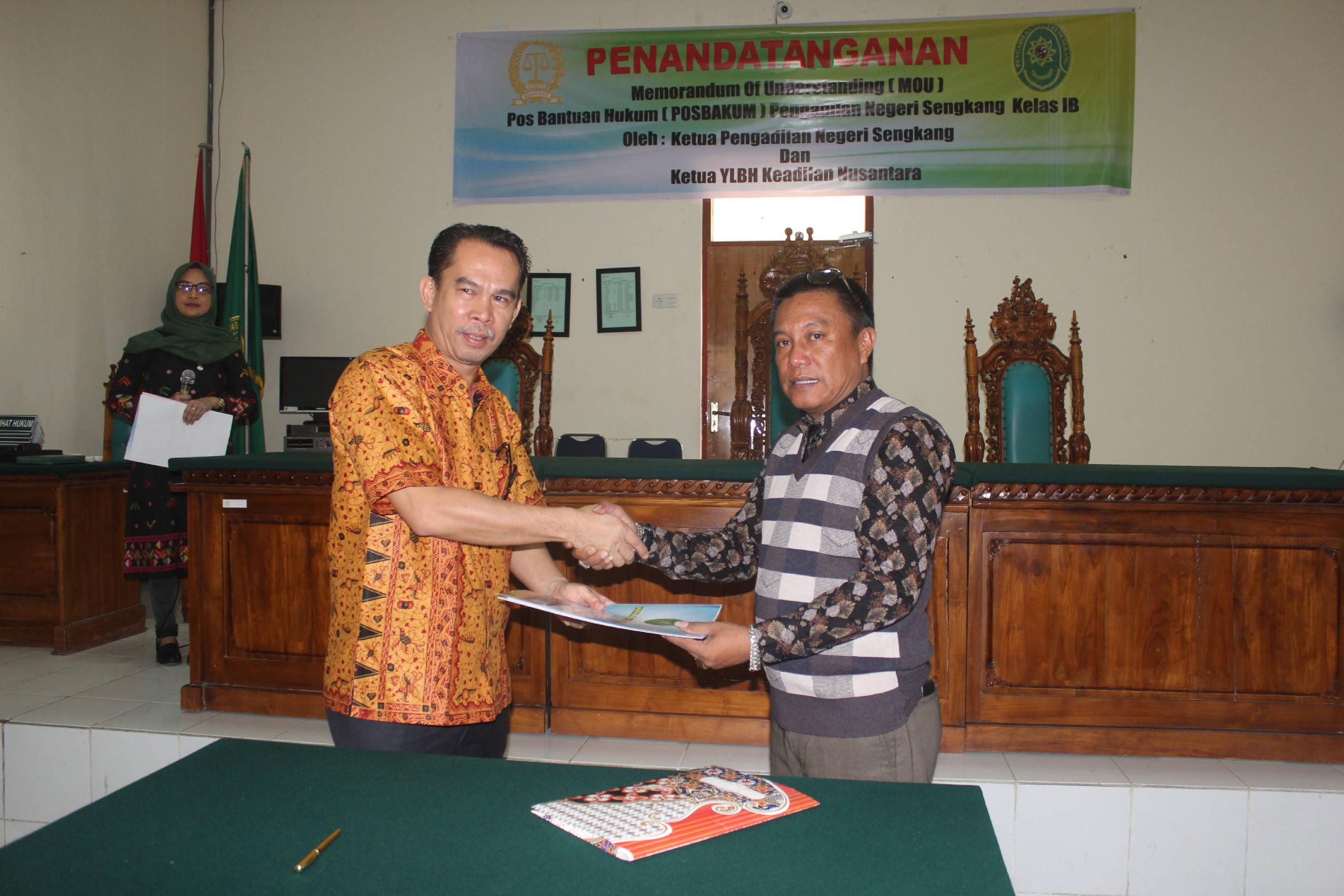 Penandatanganan Memorandum of Understanding (MoU) Posbakum TA. 2019