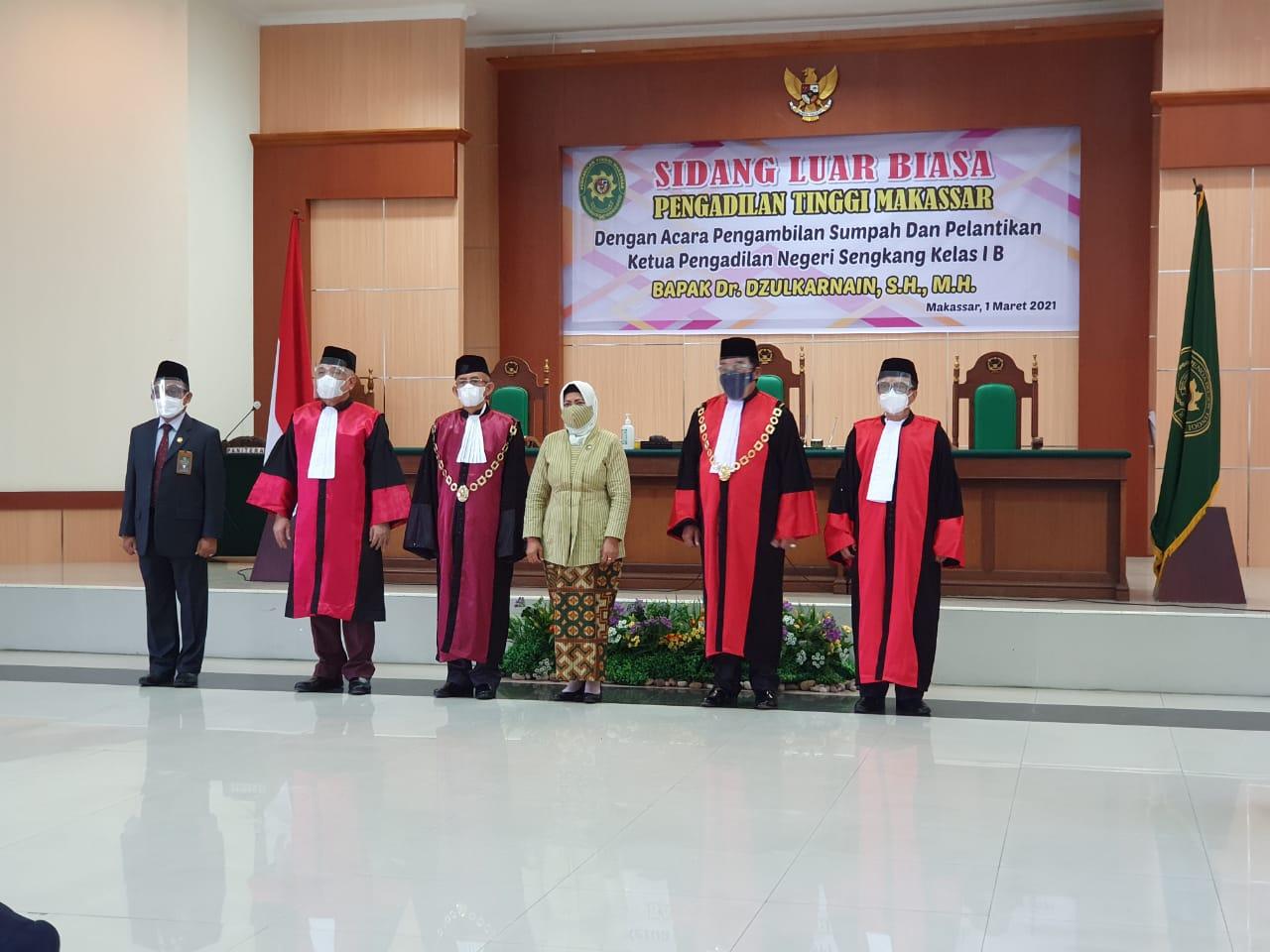 Ketua Pengadilan Negeri Sengkang Resmi Dilantik Hari Ini