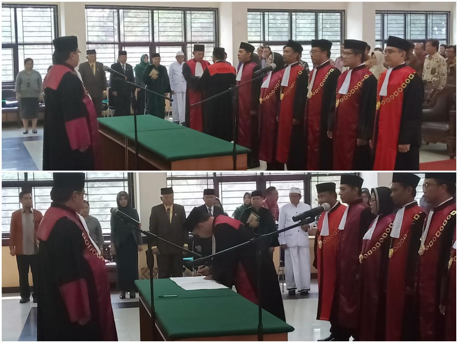 Serah Terima Jabatan dan Pelantikan Ketua Pengadilan Negeri Sengkang