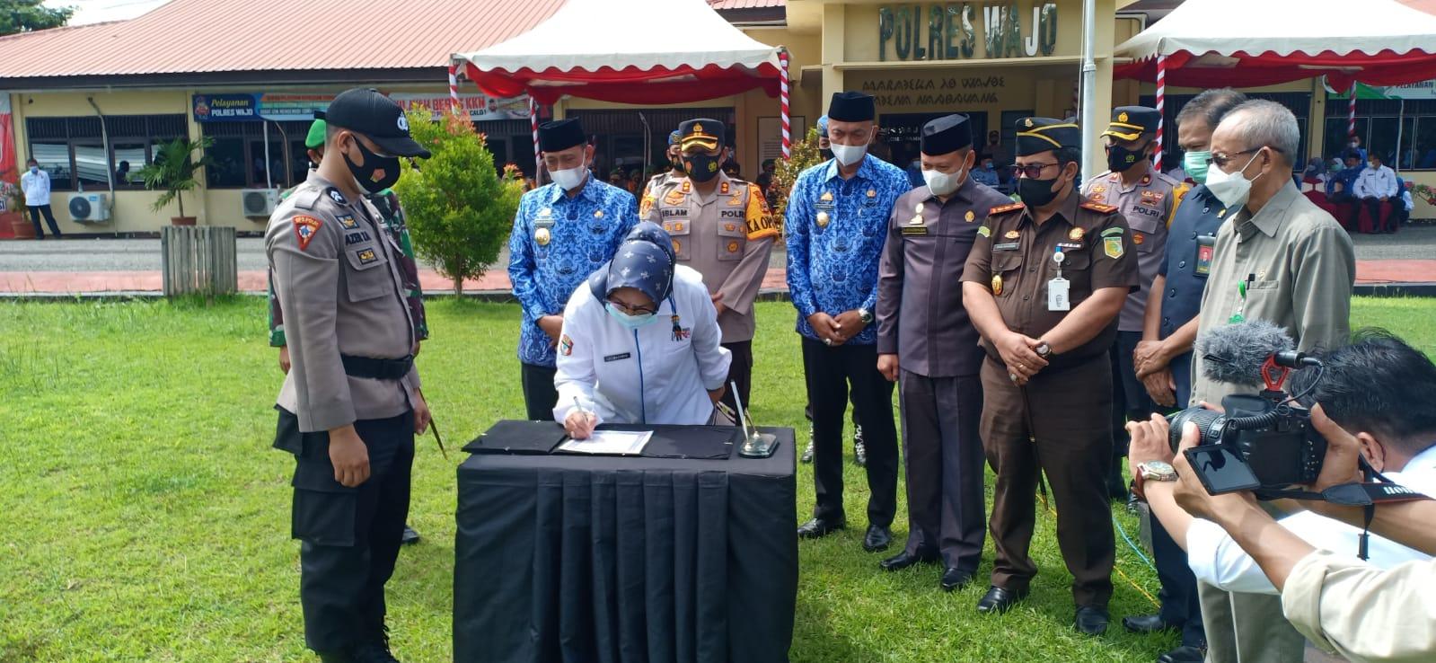 KPN Sengkang Hadiri Apel Deklarasi Damai Pilkades Kab. Wajo Tahun 2021