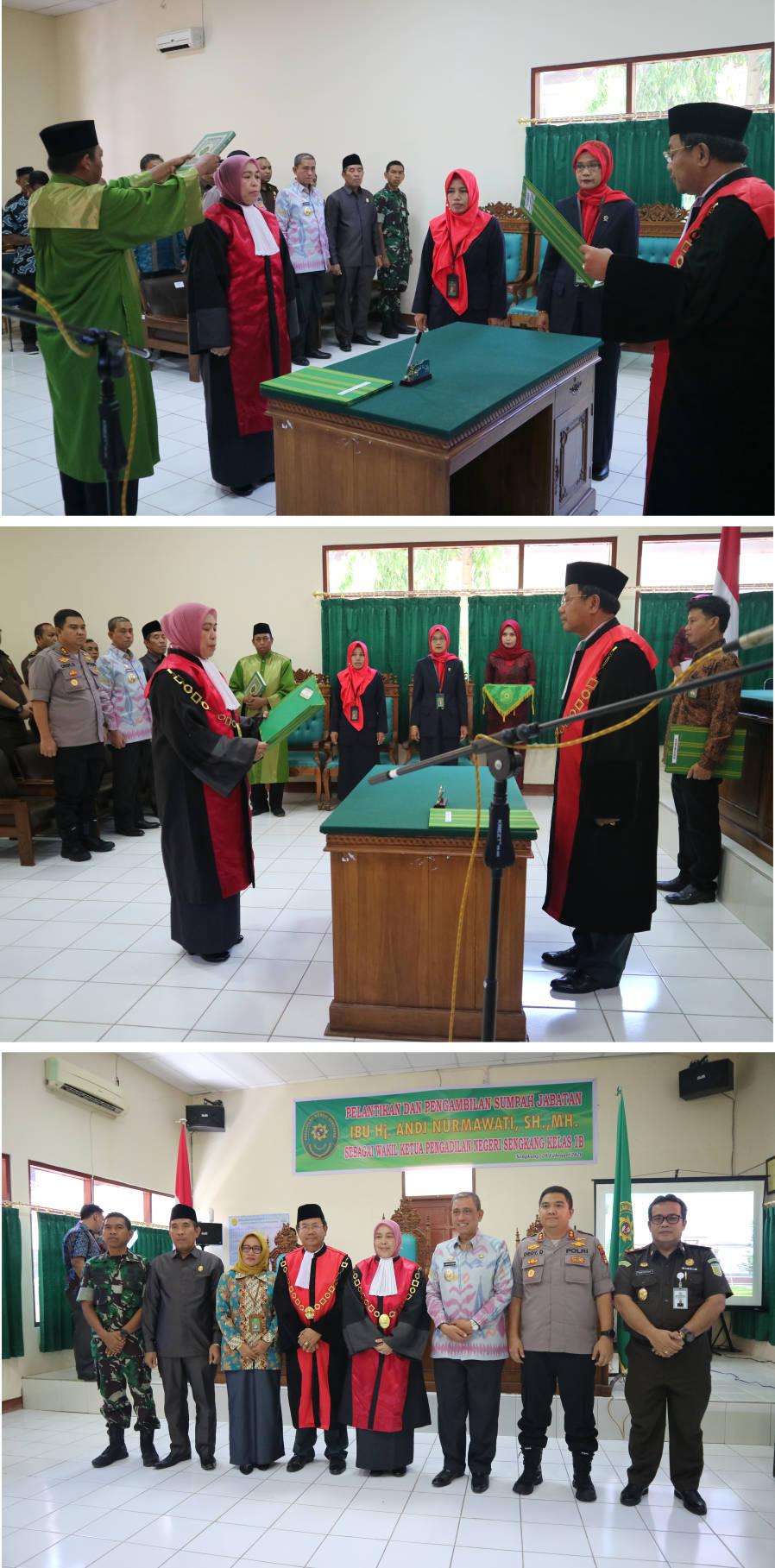 Pengambilan Sumpah Jabatan dan Pelantikan Wakil Ketua Pengadilan Negeri Sengkang Kelas IB